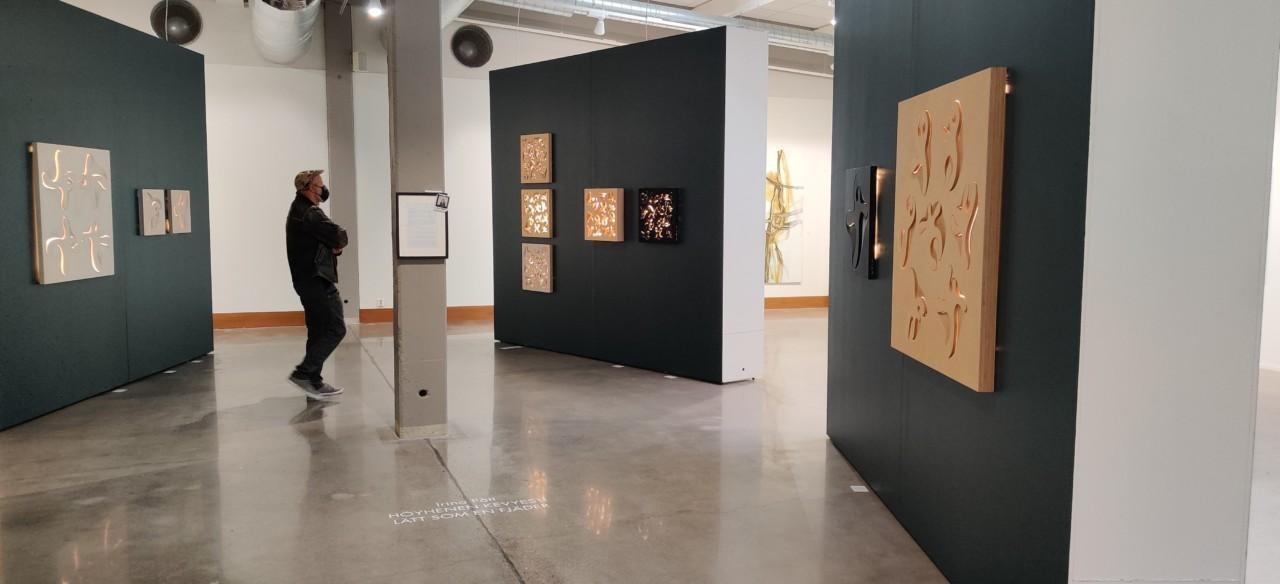 Yleiskuva Gumbostrandin näyttelystä
